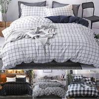 Couverture Housse de couette Literie + 2 taies d'oreiller Simple Double Coton