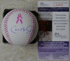 Cal Ripken Jr. Signed OMLB Breast Cancer Baseball w/ JSA COA #U44075 Orioles