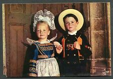 Posted 1976 Two Children in Traditional Regional Brittany Dress