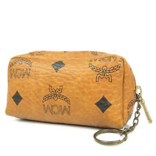 Auth MCM Vintage Logos Monogram Leather Coin Purse Wallet F/S 2145