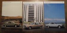 MERCEDES BENZ SLC COUPES 1980 UK Mkt Prestige Sales Brochure + Specs - 280 380