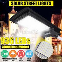 1900-3500W LED Solar Street Light Solar Panel PIR Motion Sensor Wall Lamp Remote