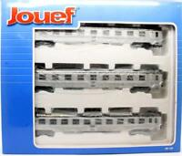 JOUEF 'HO' GAUGE HJ4042 SET OF 3 SNCF PASSENGER COACHES (8L)