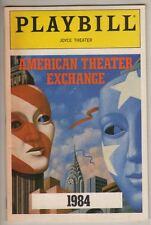 """George Orwell  """"1984""""  Playbill  1987  Off-Broadway  Oliver Platt"""