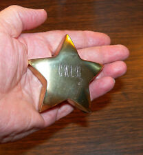 Brass Star Paperweight 6 Ounces Pre-owned Engraved Initials Free Shipping