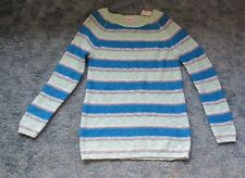NWT JUSTICE GIRL'S SOPHIA STRIPED CABLE KNIT SWEATER SIZE 14
