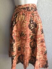 ANTHROPOLOGIE Classic Side Tie Floral Full Skirt Sequins odille Size 0 Vintage