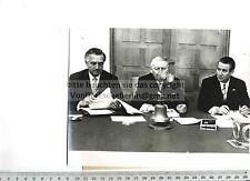 ORIGINAL PRESSEFOTO: 1963 LUDWIG ERHARD & GERHARD SCHRÖDER & ERICH MENDE - UPI