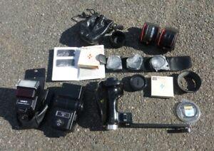 Job Lot of Camera Accessories Filters Converters Flash Holder etc DSLR & SLR