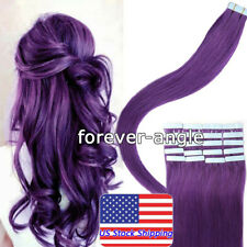 Tape In Human Hair Extensions Silky Straight Skin Weft Remy Indian Hair US Stock