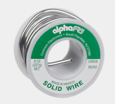 """Alpha Fry SOLID WIRE SOLDER Multi Use 50/50 Tin/Lead 0.125"""" Diameter 8 oz 23505"""