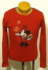 women's vintage Minnie Mouse Disney UGLY CHRISTMAS SWEATER large
