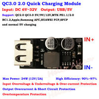 QC3.0 2.0 5V 12V USB Quick Charge Module Fast Charging Board Phone Charger Car