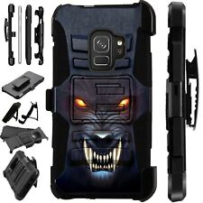 For Samsung Galaxy Phone Case Holster Kick Stand Cover ANGRY WEREWOLF LuxGuard