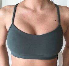 Lululemon Size 6 Flow Y Bra Nulu Green DKFR RacerBack Top Run Energy Yoga Soft