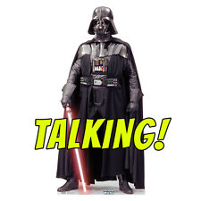 DARTH VADER TALKING Star Wars Lifesize CARDBOARD CUTOUT Standup Standee Poster