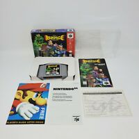 Rampage World Tour (Nintendo 64, 1997) Complete Manual Box CIB Tested and Works