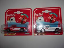 Coca Cola Set of 2 Corvettes '58 Cars Series 200 by Majorette
