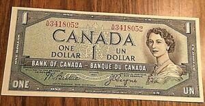 1954 CANADA 1 DOLLAR BANK NOTE 1$
