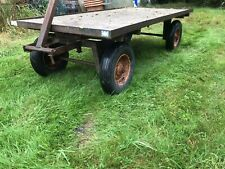 More details for four wheel turn table  trolly 6ft x 3ft turn table trolley 4 wheel cart