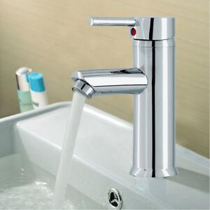 UK Cloakroom Chrome Luxury Bathroom Modern Basin Sink Mono Mixer Tap with Hoses