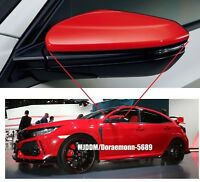 Genuine Door Mirror Cover R+L Side Frame Red Jdm FK8 CIVIC TYPE R HONDA OEM