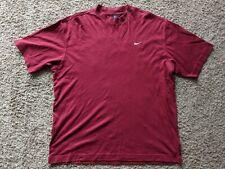 Vintage Nike Golf Dri Fit Solid Burgandy Short Sleeve Shirt Men's Size Large