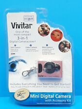 Vivitar 3-in-1 Mini Digital Still Camera, Web Cam & Video ~ Pink