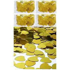 Table Party Scatters Confetti 100grams Foil Heart Wedding Decorations Gold