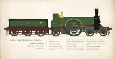 Great Northern Railway No 1 locomotive. Doncaster 1870 Patrick Stirling 1958
