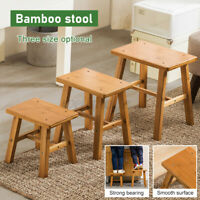 S/M/L Bamboo Stool Wooden Stool Chair Round Footstool Mordern Breakfast Stool