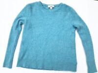 Women's White + Warren Anthropologie 100% Cashmere Sweater Medium Light Blue