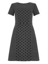 Ex Boden Grey Kathryn Dress Spotted in Fell Green Size 6