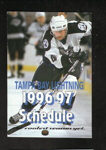 Tampa Bay Lightning--Cory Cross--1995-96 Schedule--Tampa General Healthcare