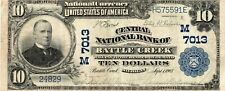 New listing $10 Series 1902 Battle Creek, Mi National Currency 7013 Note