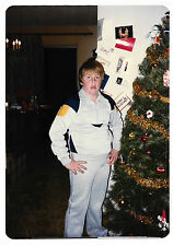 Vintage 80s PHOTO Young Boy Modeling Christmas Gift Clothes w/ Hands On Hips