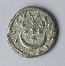ANCIENT AR SILVER DENARIUS EMPEROR SEPTIMIUS SEVERUS AND CRESCENT /193-211 AD/