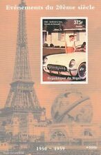 CORVETTE CHEVROLET CLASSIC CAR EIFFEL TOWER IMPERFORATED MNH STAMP SHEETLET