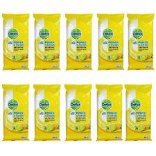 10 x Packs of Dettol Antibacterial Multipurpose Wipes Citrus Large 20's
