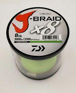 Daiwa J Braid x8 3000m Chartreuse