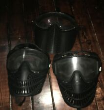 2x JT Paintball Airsoft Mask Black Face Cover W Goggles & Chinstrap 1 Unbranded