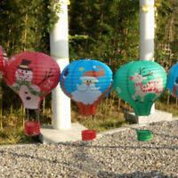 """Hot Air Balloon Paper Lanterns For Christmas Party Decor 1pc 12"""" Lampshade"""