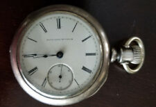 Vintage 18 Size Elgin Big 4Oz Coin Silver Hunting Case Pocket Watch From 1880