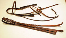New Cavalry Figure 8 eight bridle New, Fancy laced reins, horse full edgewood
