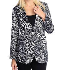 The Counter Collection Blazer Black & White Animal Print One Button Jacket Sz M