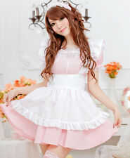 Pink Princess Dress Maid Outfit Cosplay Clothes DS Stage Maidservants Temptation