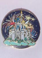 2006 Disney World Castle Trading Pin Tinker Bell Fireworks Spinner Spinning