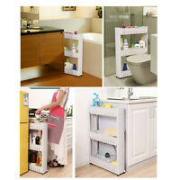 Slideout Storage Tower Organizer Slide Out Slim Narrow Space Laundry Kitchen SG