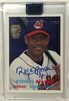 2018 Topps Archives Signature Roberto Alomar 2015 Topps Heritage /12