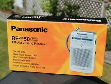 Panasonic RF-P50 Pocket Radio Portable AM/FM 2-Band Receiver Silver Mint New